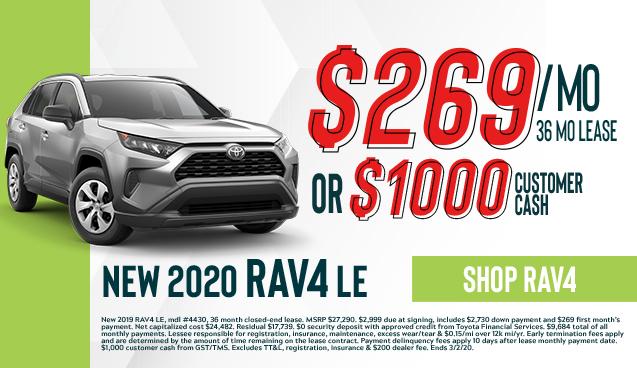 New 2020  RAV4 LE