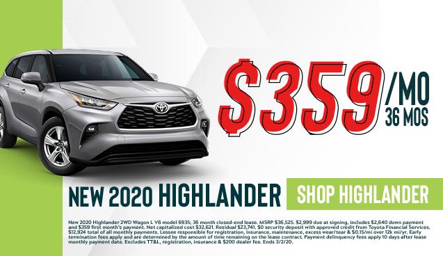 New 2020 Highlander