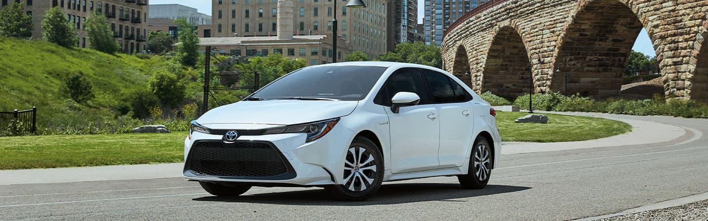 2020 Toyota Corolla Hybrid on street