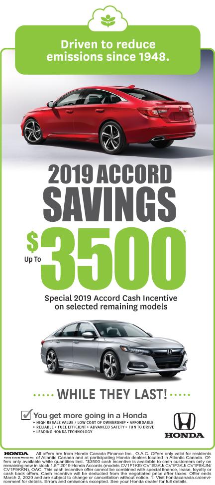 2019 Accord Savings