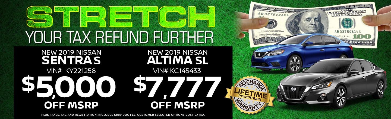 Year End Savings Sentra/Altima