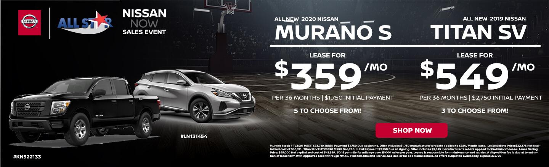 2020 Nissan Murano and Titan