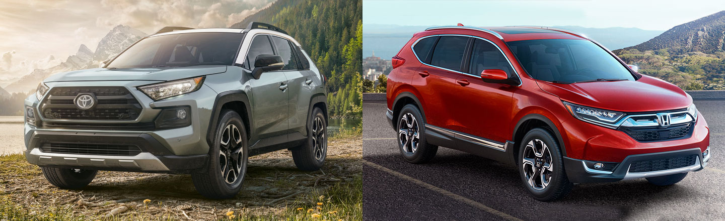 Compare the 2020 Toyota RAV4 & 2020 Honda CR-V Compact Crossover SUVs