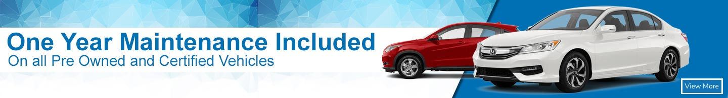 one year maintenance included on all pre-owned and certified vehicles