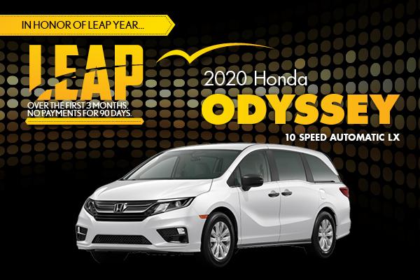 2020 Honda Odyssey 10 Speed Automatic LX