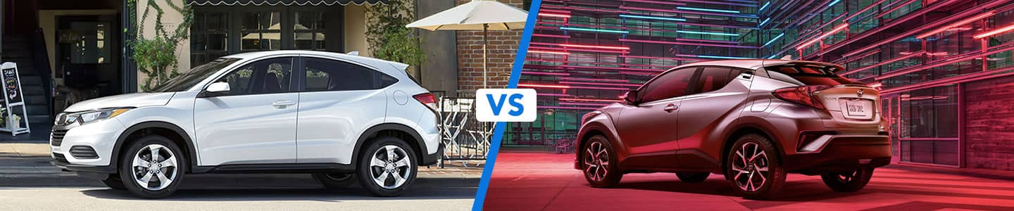 Comparing the 2020 Honda HR-V & Toyota C-HR Compact Crossovers