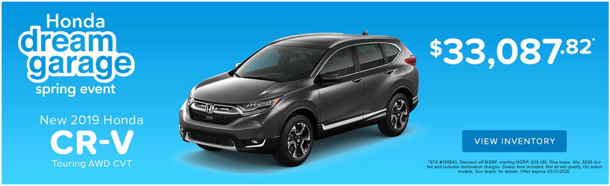 New 2019 Honda CR-V Touring AWD CVT