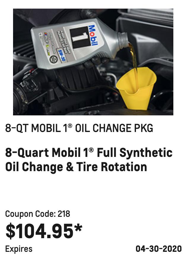 8-QT MOBIL 1® OIL CHANGE PKG
