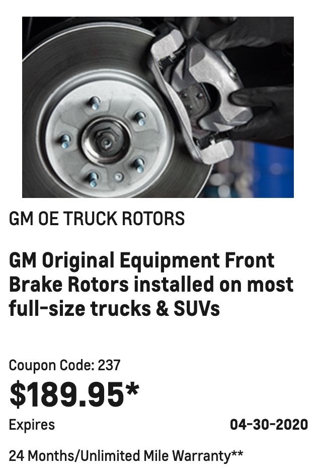 GM OE TRUCK ROTORS