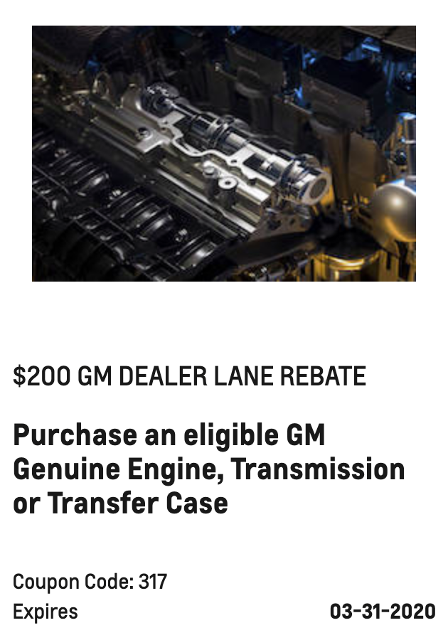 $200 GM DEALER LANE REBATE