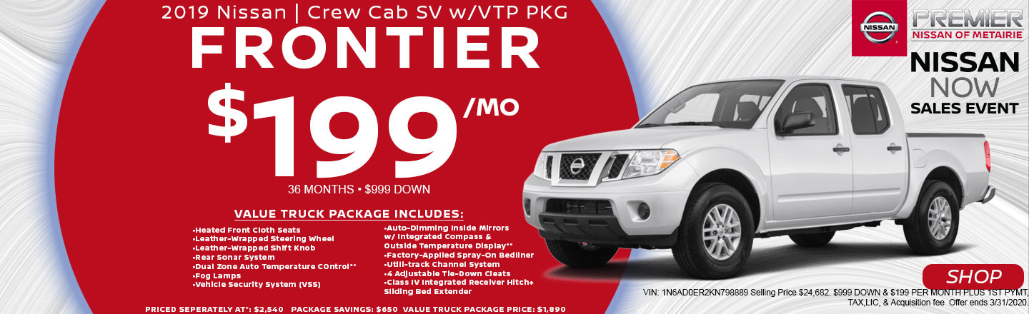 2019 Frontier SV Crew Cab | Lease Offer