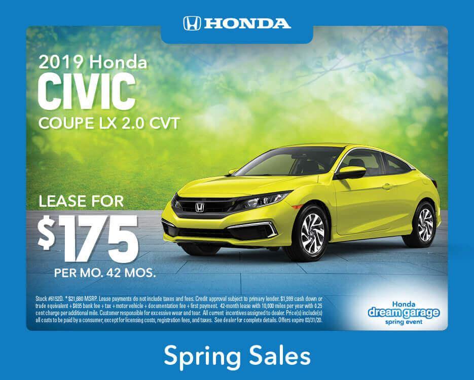 2019 Civic Coupe LX CVT