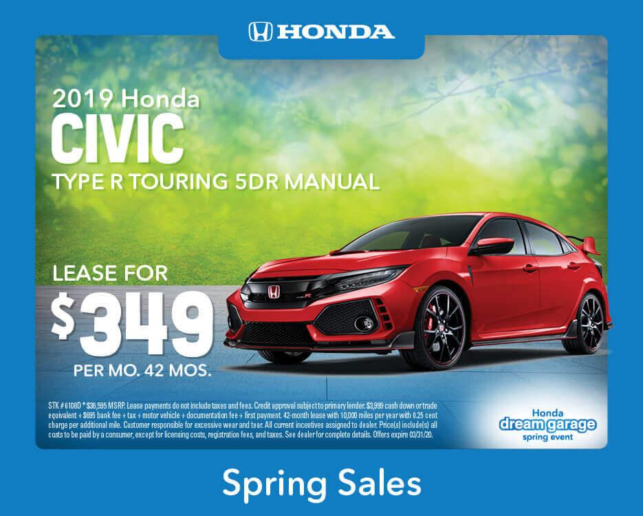 2019 Civic Type R Touring Sedan Manual