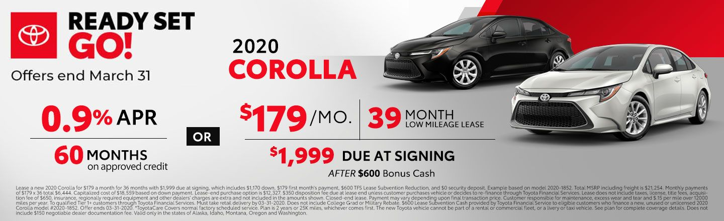 2020 Corolla offers
