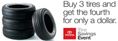 Buy 3 Tires, Get the 4th For Only $1
