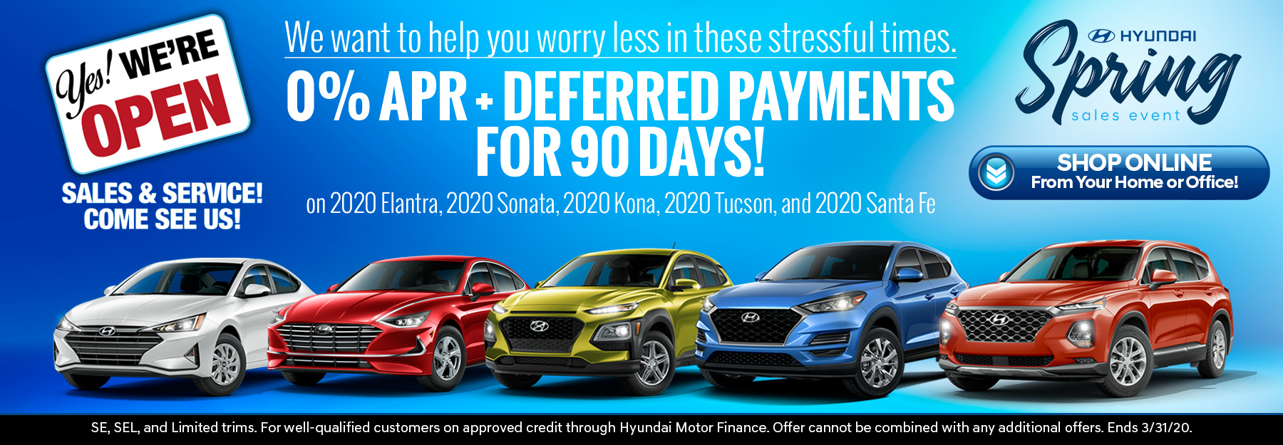 0% APR + Deferred Payments For 90 Days