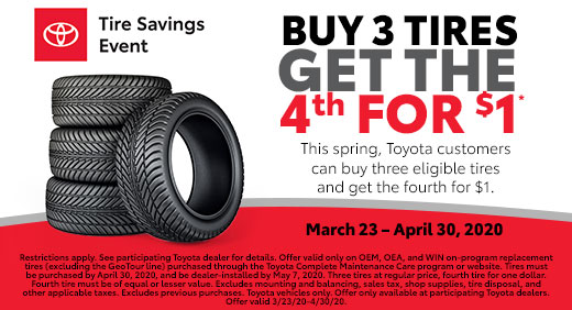 Buy 3 Tires Get The 4th For $1* at Eastern Sh