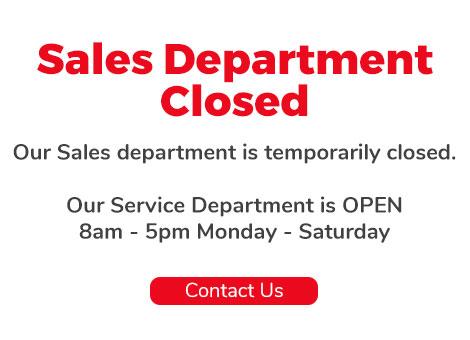 Sales Department Closed