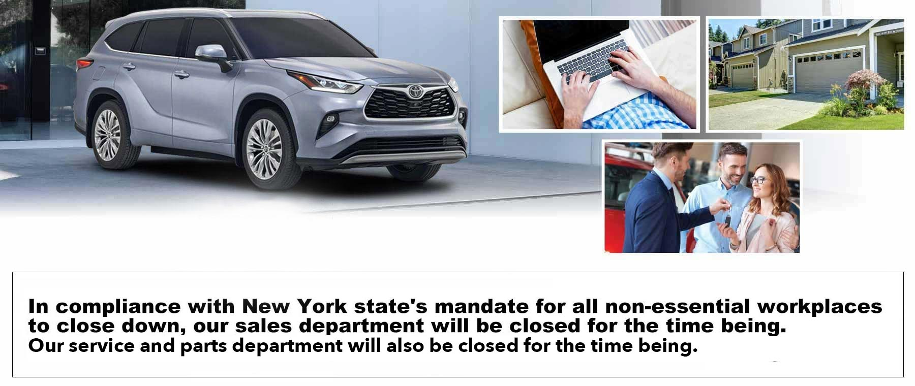 Test Driving at home for Toyota of New Rochelle
