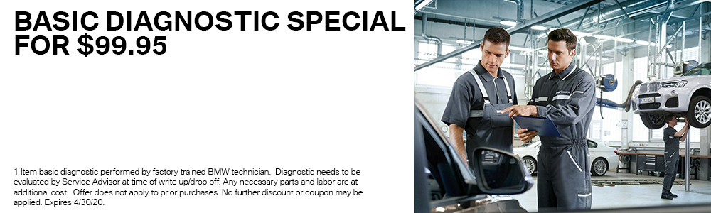 Basic Diagnostic Special for $99.95