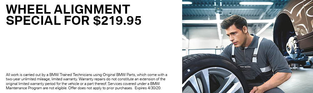 Wheel Alignment Special for $219.95