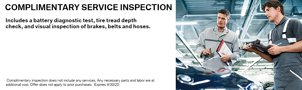 Complimentary Service Inspection