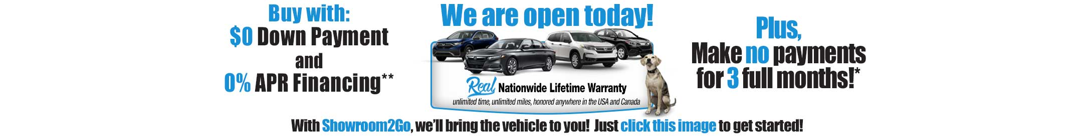 We are open today! Click here to go to showroom to go