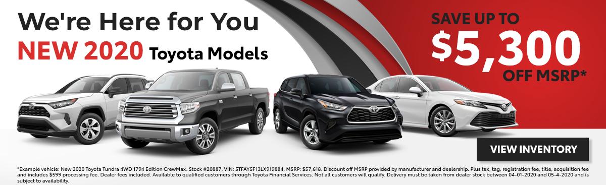 New 2020 Toyota Models