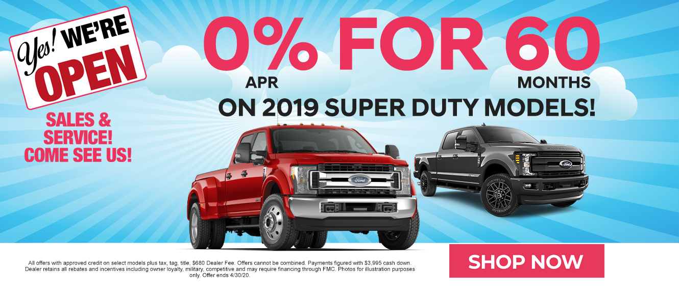 0% for 60 months on Ford Super Duty