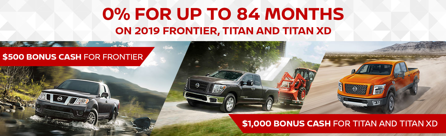 0% For 84 Months on Frontier and Titan