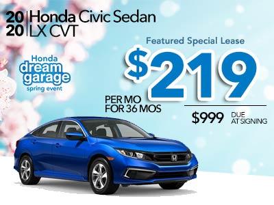 2020 Civic LX CVT