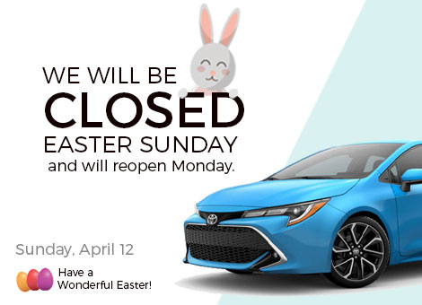 We Are Closed For Easter