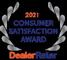2021 Consumer Satisfaction Award Dealer Rater Logo