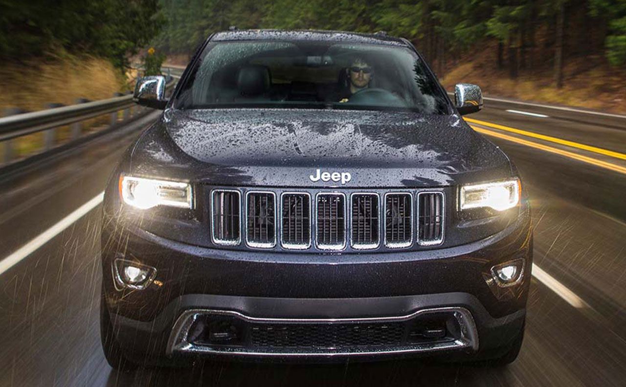2016 jeep grand sale exterior rain headlights hood grille drive motion
