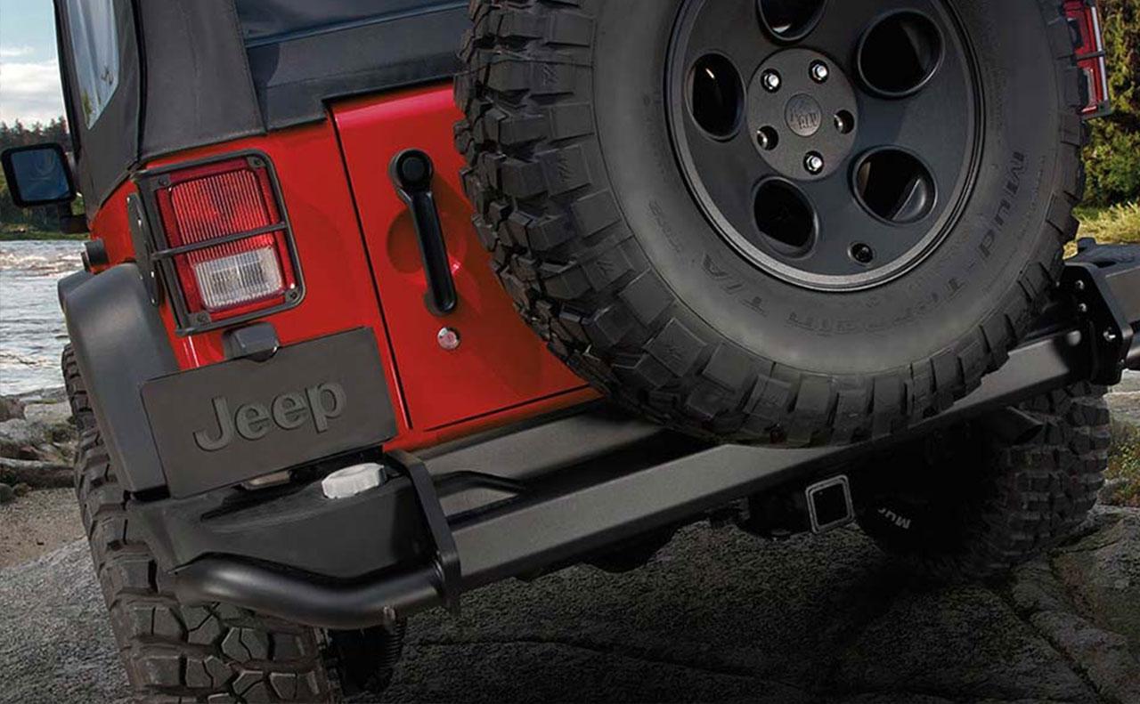 2016 jeep wrangler exterior spare tire rim wheel tail light
