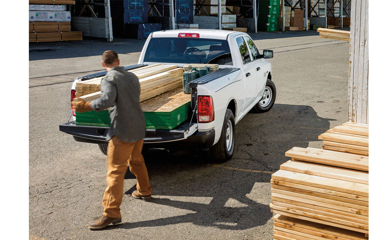 2016 ram 1500 exterior work truck heavy lift tow wood bed