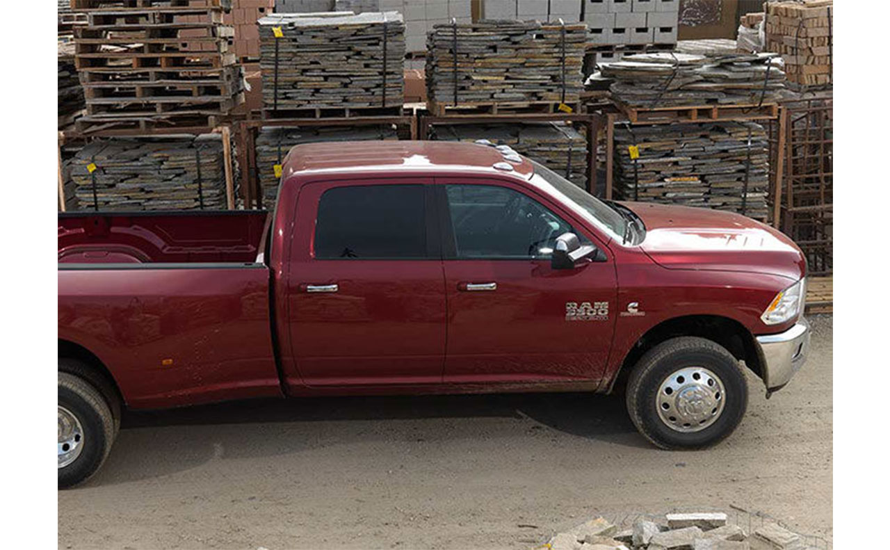2016 ram 3500 exterior red dirt window work truck