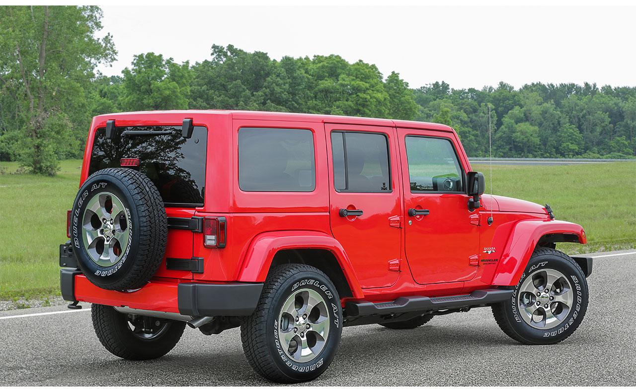 2017 jeep wrangler exterior four door red