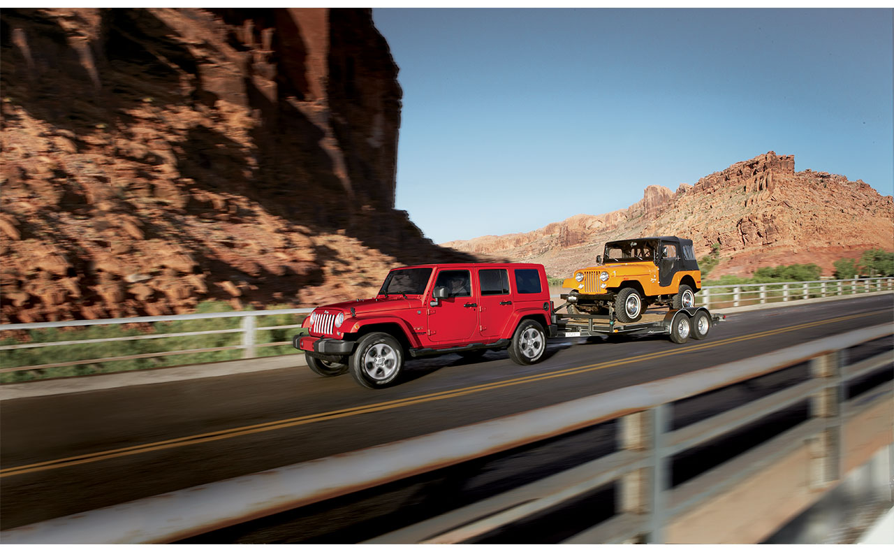 2017 jeep wrangler exterior towing red yellow