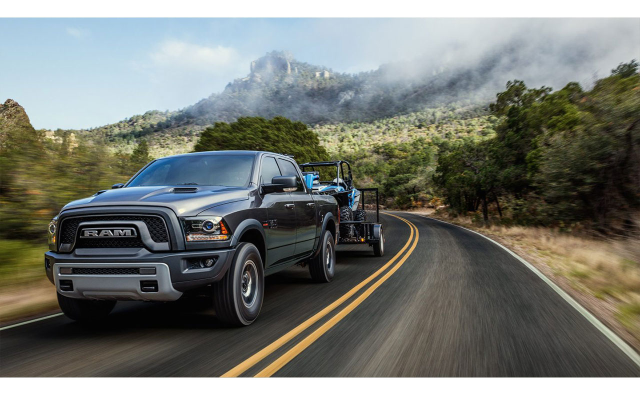 2017 ram 1500 exterior black trailer towing
