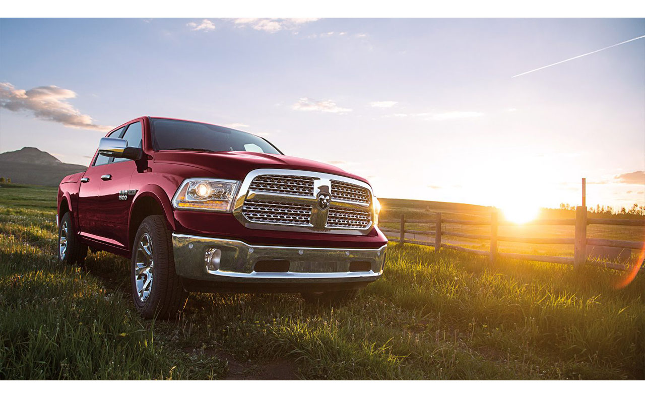 2017 ram 1500 exterior red sun lights