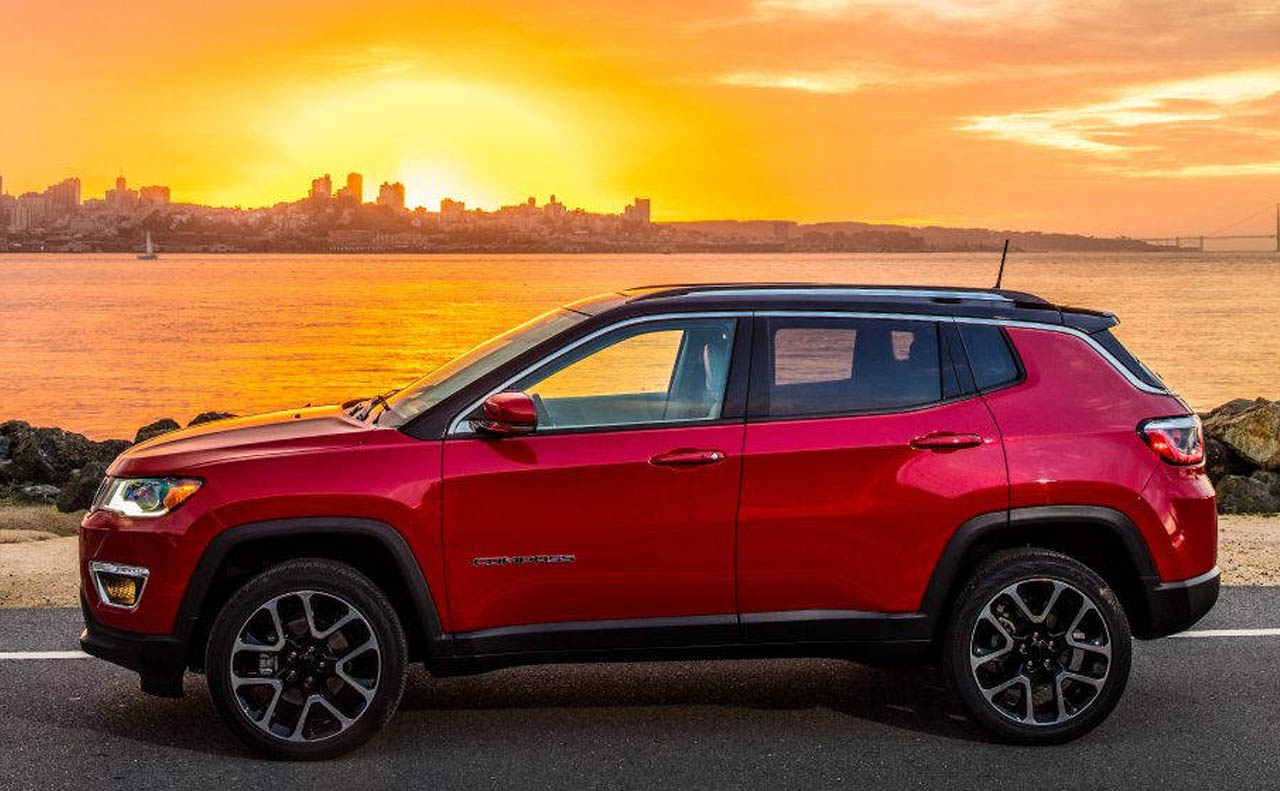 2018 jeep compass exterior driver side red