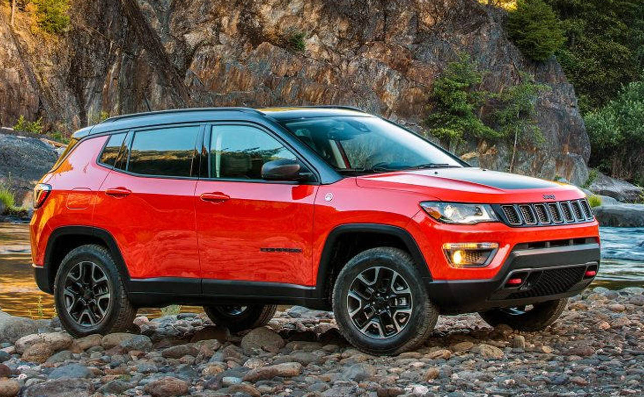 2018 jeep compass exterior red passenger side