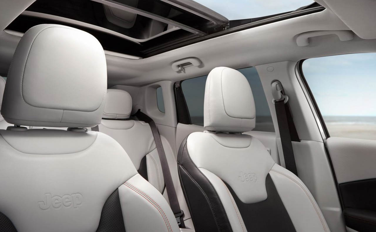 2018 jeep compass exterior white sunroof
