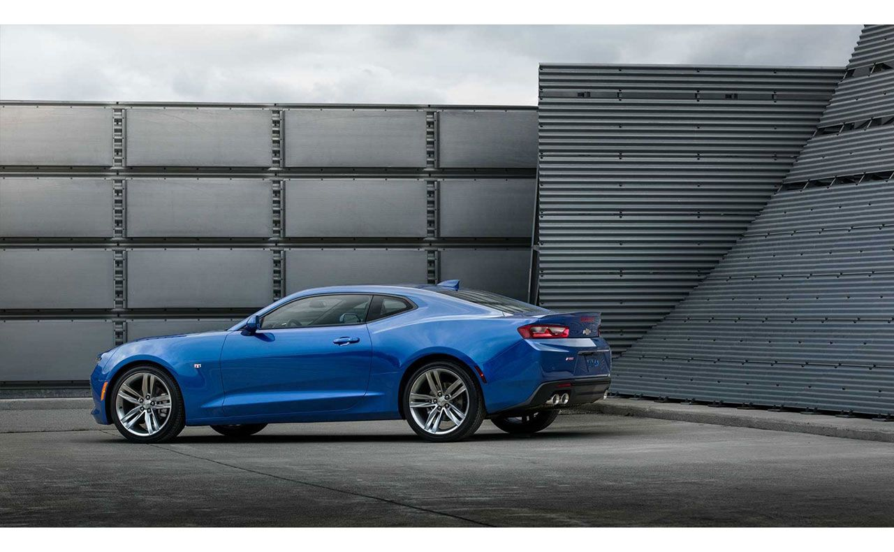 2016 chevrolet camaro exterior blue rear tail-compressor