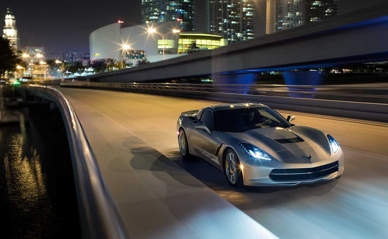 chevrolet corvette exterior road