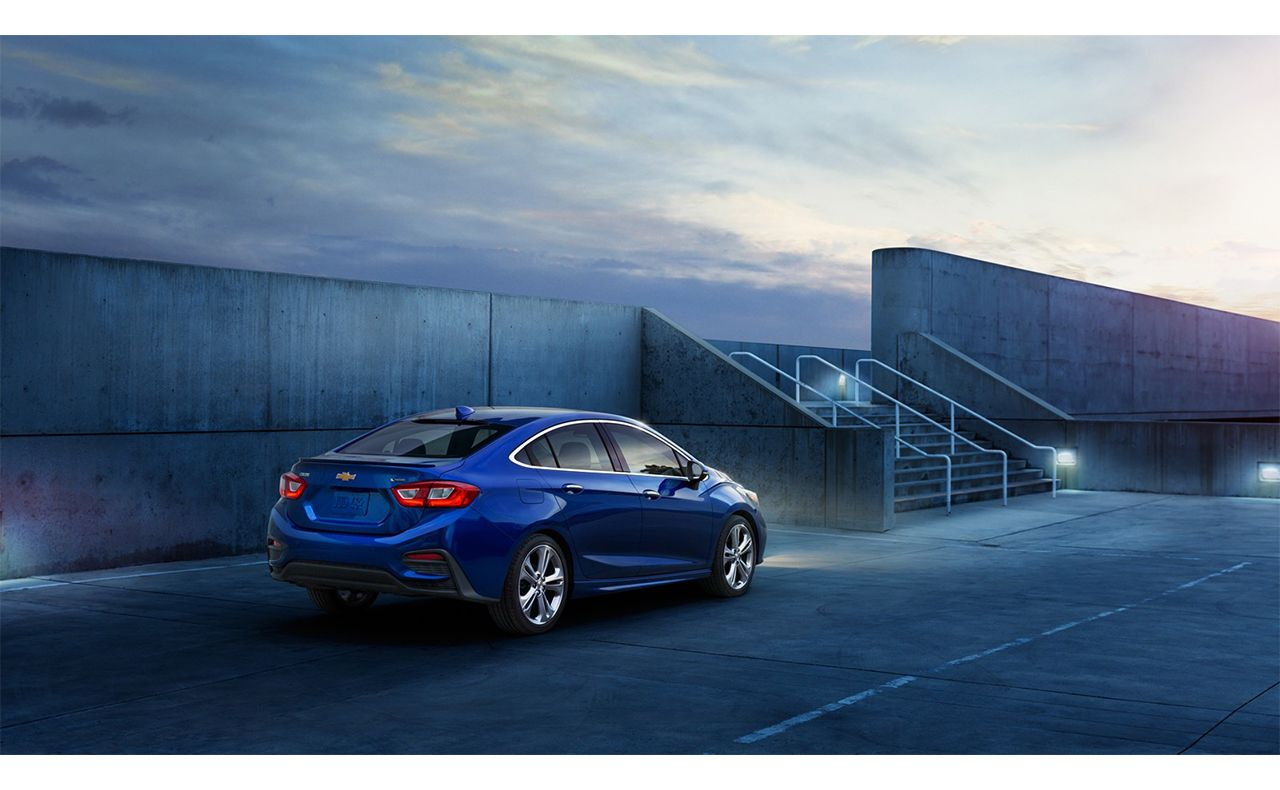 2016 chevrolet cruze exterior morning sunset blue-compressor