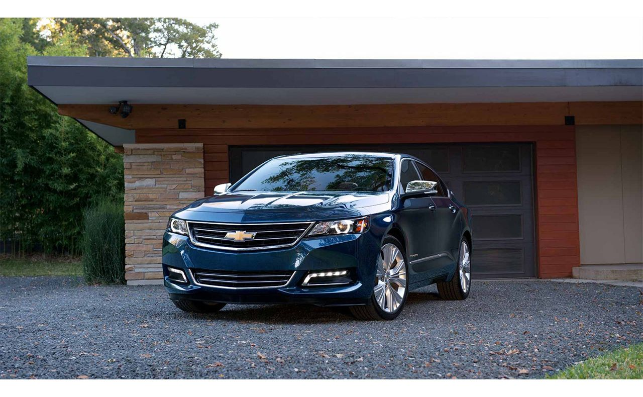 2017 chevrolet impala exterior blue rims hood-compressor