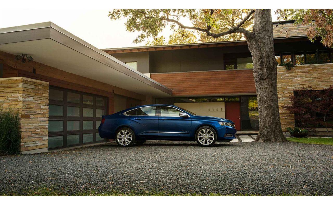 2017 chevrolet impala exterior side view blue-compressor