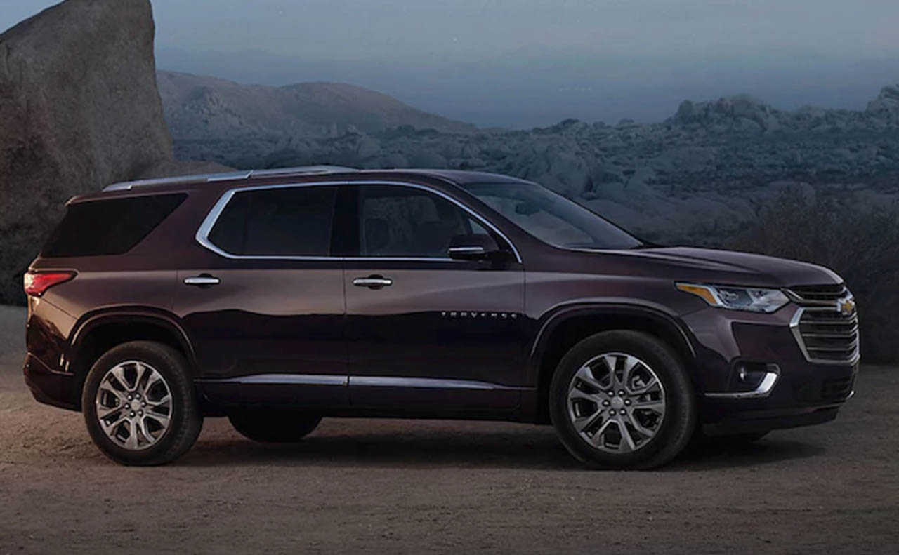 2018 chevrolet traverse exterior right side